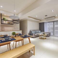 空間規劃-四季水悅李宅:  餐廳 by 解構室內設計