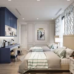Phong cách Art Deco và New York Style kết hợp trong thiết kế nội thất căn hộ Vinhomes Golden River:  Phòng trẻ em by ICON INTERIOR