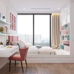 Phong cách Art Deco và New York Style kết hợp trong thiết kế nội thất căn hộ Vinhomes Golden River:  Phòng trẻ em by ICON INTERIOR,