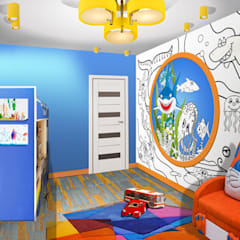 Boys Bedroom by idd, Mediterranean