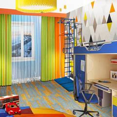 Проект квартиры S-100м2.: Спальни для мальчиков в . Автор – idd, Модерн