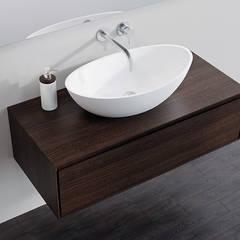 Badeloft - Badewannen und Waschbecken aus Mineralguss und Marmor BathroomStorage Wood Brown