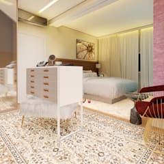 Whill Barros Arquitetura e Design의  작은 침실