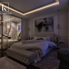 تاج سلطان:  غرف نوم صغيرة تنفيذ Karim Elhalawany Studio