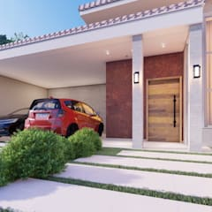 Casas unifamiliares de estilo  por Whill Barros Arquitetura e Design