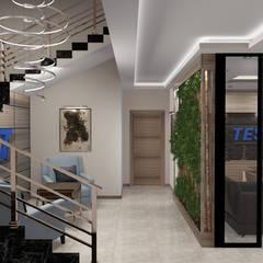 Mimfa İç Mimarlık – Ofis Tasarımı:  tarz Merdivenler,