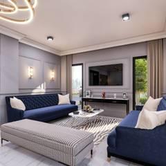 ANTE MİMARLIK  – K . Y - Villaları:  tarz Oturma Odası, Modern