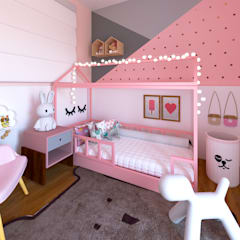 Girls Bedroom by Karine Battu Arquitetura,