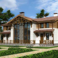 Проект дома из керамического камня в стиле славянского фэнтези: Дома на одну семью в . Автор – Roman Kozlov