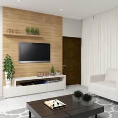 غرفة المعيشة تنفيذ Karine Battu Arquitetura