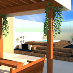 จากุซซี่ โดย Karine Battu Arquitetura, มินิมัล