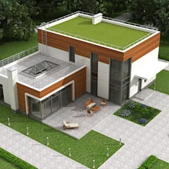 Проект дома из монолитного железобетона в стиле неомодернизм: Дома на одну семью в . Автор – Roman Kozlov,