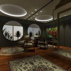 Cobertura Victor Konder Corredores, halls e escadas clássicos por ANNA MAYA ARQUITETURA E ARTE Clássico