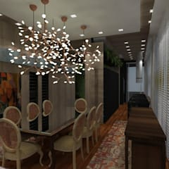 Cobertura Victor Konder: Salas de jantar  por ANNA MAYA ARQUITETURA E ARTE