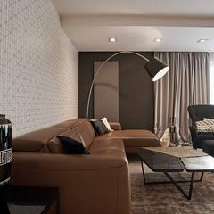 apartament//100m: styl , w kategorii Salon zaprojektowany przez TOTAMSTUDIO pracownia architektury wnętrz