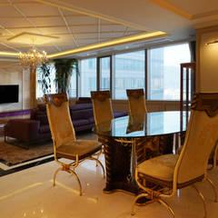 80PY대 아파트 인테리어 APT INTERIOR_부산인테리어: 감자디자인의  다이닝 룸,휴양지