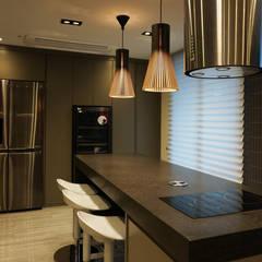 59PY 아파트 인테리어 APT INTERIOR_부산인테리어: 감자디자인의  주방 설비