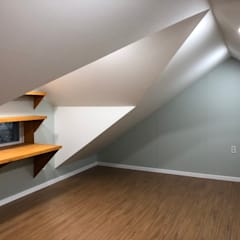 노부부를 위한 전원주택 수련집: 주식회사 큰깃의  서재 & 사무실