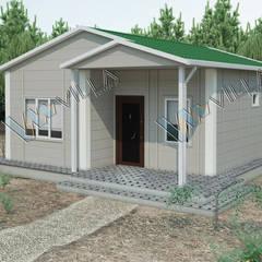 VİLLA DİZAYN PREFABRİK – 53 m2 tek katlı prefabrik ev - 45.125 TL:  tarz Prefabrik ev