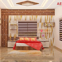 Small bedroom by Aescon Builders and Architects