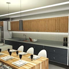 Kitchen units by Claudia Mesquita Arquitetura