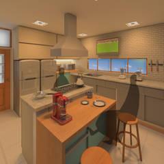 CRIA UM: Armários e bancadas de cozinha  por Diade Arquitetos,Minimalista Pedra