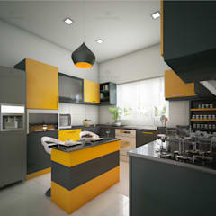 :  Built-in kitchens by Monnaie Architects & Interiors