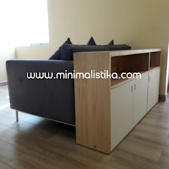 Mobiliario Minimalistika - Arquitectura Minimalista: Salas / recibidores de estilo  por Minimalistika.com,
