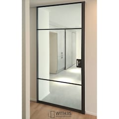 Glass doors by WITHJIS(위드지스), Modern Aluminium/Zinc