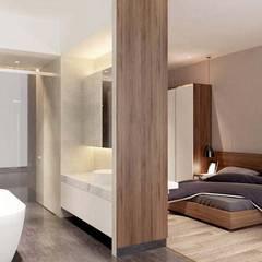 Nội thất nhà phố cityland gò vấp:  Phòng ngủ by công ty thiết kế nội thất CEEB tại cityland Gò Vấp