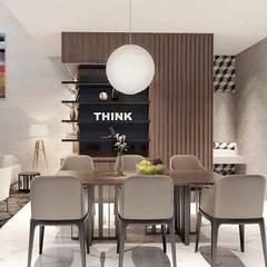 Nội thất nhà phố cityland gò vấp:  Phòng ăn by công ty thiết kế nội thất CEEB tại cityland Gò Vấp