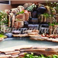 Tukang Tebing Dekorasi dan Kolam : Dinding oleh Tukang Taman Surabaya - Tianggadha-art, Klasik Batu Pasir
