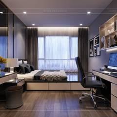 THIẾT KẾ CĂN HỘ ESTELLA HEIGHTS - Thiết kế Nơi bạn thuộc về!:  Phòng ngủ by ICON INTERIOR
