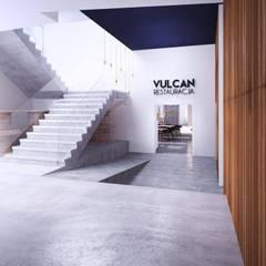 Hotel Vulcan: styl , w kategorii Korytarz, przedpokój zaprojektowany przez Malcherek Studio