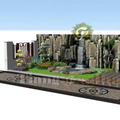 Tukang Tebing Dekorasi dan Kolam : Dinding oleh Tukang Taman Surabaya - Tianggadha-art, Klasik Batu Bata