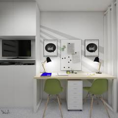 Pokój dwóch chłopców oliwkowy: styl , w kategorii Pokój młodzieżowy zaprojektowany przez Polilinia Design