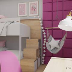 Pokój dwóch dziewczynek: styl , w kategorii Pokój dziecięcy zaprojektowany przez Polilinia Design