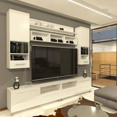 Salas de entretenimiento de estilo  por Arquitecto Rafael Balbi ,