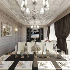 Gentlest living room. Нежность.: Столовые комнаты в . Автор – Patanin Luxury Design