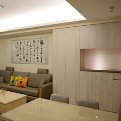 Living room by 台中室內設計裝修|心之所向設計美學工作室, Asian