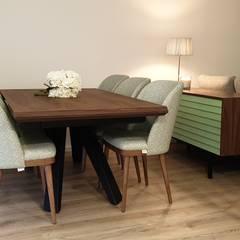 T3 Eclético Salas de jantar escandinavas por Alma Braguesa Furniture Escandinavo Alumínio/Zinco