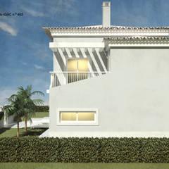 Casa de Tires | Cascais: Casas de campo  por ATELIER OPEN ® - Arquitetura e Engenharia