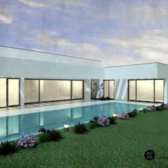 مسبح حديقة تنفيذ ATELIER OPEN ® - Arquitetura e Engenharia