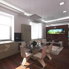 Apartment young girl's. Квартира молодой девушки.: Столовые комнаты в . Автор – Patanin Luxury Design,