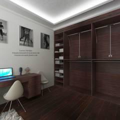 Apartment young girl's. Квартира молодой девушки.: Гардеробные в . Автор – Patanin Luxury Design