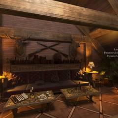 Mansard. Мансарда.: Гостиная в . Автор – Patanin Luxury Design