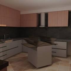 Propuesta cocina, isla móvil: Muebles de cocinas de estilo  por CG Diseño , Moderno Madera Acabado en madera