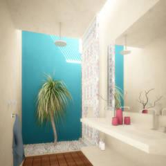 TH Santiago: Baños de estilo  por Grupo Inmobiliario Dofer, Ecléctico
