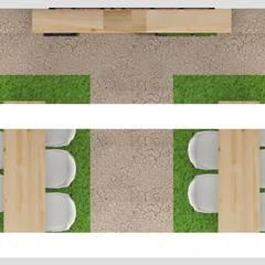Stand FOLIAGE: Espacios comerciales de estilo  por Decó ambientes a la medida