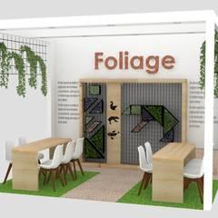 Stand FOLIAGE - Medellín: Espacios comerciales de estilo  por Decó ambientes a la medida